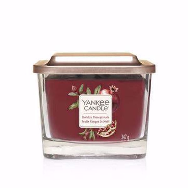 Immagine di Holiday Pomegranate Candela Media a Tre Stoppini