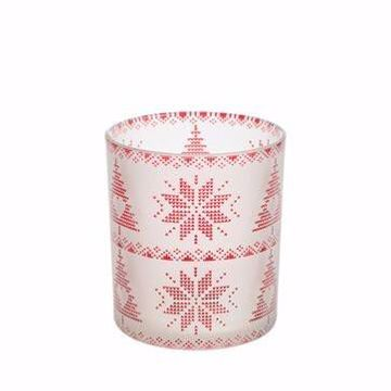 Immagine di Red Nordic Frosted Glass Porta Sampler
